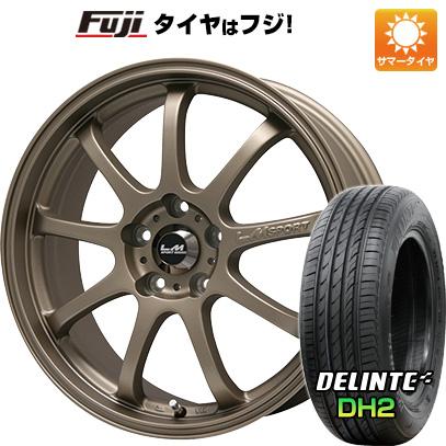 タイヤはフジ 送料無料 LEHRMEISTER レアマイスター LMスポーツファイナル(ブロンズ) 7.5J 7.50-18 DELINTE デリンテ DH2(限定) 215/35R18 18インチ サマータイヤ ホイール4本セット