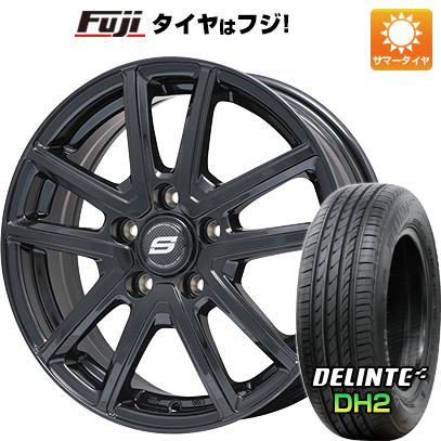 タイヤはフジ 送料無料 BRANDLE ブランドル M61B 6.5J 6.50-16 DELINTE デリンテ DH2(限定) 195/55R16 16インチ サマータイヤ ホイール4本セット
