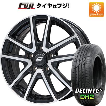 タイヤはフジ 送料無料 シエンタ 5穴/100 BRANDLE ブランドル M61BP 6J 6.00-15 DELINTE デリンテ DH2(限定) 185/60R15 15インチ サマータイヤ ホイール4本セット