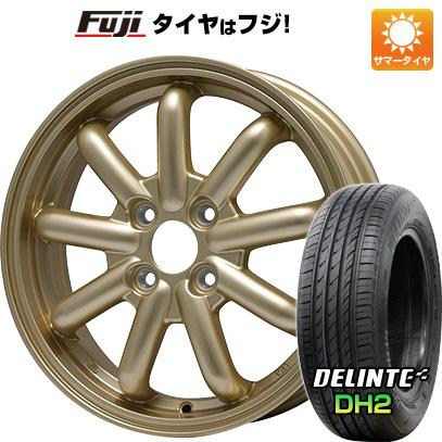タイヤはフジ 送料無料 BRANDLE-LINE ストレンジャーKST-9 (ゴールド) 4.5J 4.50-14 DELINTE デリンテ DH2(限定) 155/65R14 14インチ サマータイヤ ホイール4本セット