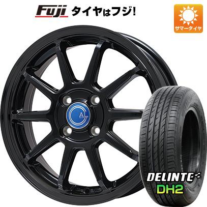 タイヤはフジ 送料無料 BRANDLE-LINE ブランドルライン カルッシャー ブラック 5.5J 5.50-15 DELINTE デリンテ DH2(限定) 185/60R15 15インチ サマータイヤ ホイール4本セット