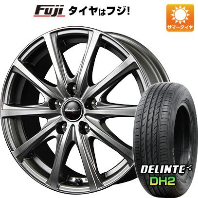 タイヤはフジ 送料無料 MID ユーロスピード V25 6J 6.00-15 DELINTE デリンテ DH2(限定) 195/65R15 15インチ サマータイヤ ホイール4本セット