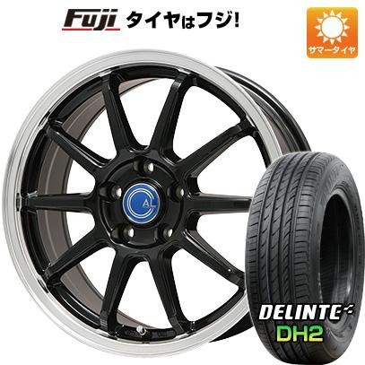 タイヤはフジ 送料無料 BRANDLE-LINE ブランドルライン カルッシャー ブラック/リムポリッシュ 7.5J 7.50-18 DELINTE デリンテ DH2(限定) 235/45R18 18インチ サマータイヤ ホイール4本セット