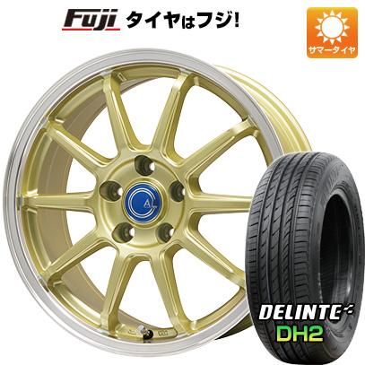 タイヤはフジ 送料無料 BRANDLE-LINE ブランドルライン カルッシャー ゴールド/リムポリッシュ 7.5J 7.50-18 DELINTE デリンテ DH2(限定) 225/45R18 18インチ サマータイヤ ホイール4本セット