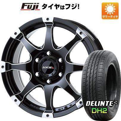 タイヤはフジ 送料無料 ハイエース200系 MKW MK-76 8J 8.00-18 DELINTE デリンテ DH2(限定) 225/50R18 18インチ サマータイヤ ホイール4本セット