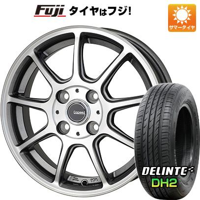 タイヤはフジ 送料無料 HOT STUFF ホットスタッフ ジースピード P-01 4.5J 4.50-14 DELINTE デリンテ DH2(限定) 155/65R14 14インチ サマータイヤ ホイール4本セット