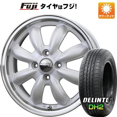 タイヤはフジ 送料無料 HOT STUFF ホットスタッフ ララパーム カップ 4.5J 4.50-14 DELINTE デリンテ DH2(限定) 155/65R14 14インチ サマータイヤ ホイール4本セット