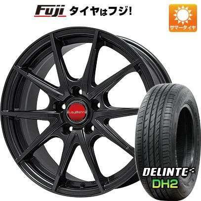 タイヤはフジ 送料無料 BIGWAY ビッグウエイ LEYBAHN WGS 7.5J 7.50-18 DELINTE デリンテ DH2(限定) 225/55R18 18インチ サマータイヤ ホイール4本セット