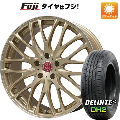 タイヤはフジ 送料無料 PREMIX プレミックス グラッパ(ゴールド/リムポリッシュ) 7J 7.00-18 DELINTE デリンテ DH2(限定) 225/45R18 18インチ サマータイヤ ホイール4本セット