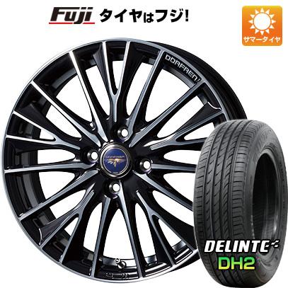 タイヤはフジ 送料無料 TOPY トピー ドルフレン デルディオ 5.5J 5.50-15 DELINTE デリンテ DH2(限定) 185/60R15 15インチ サマータイヤ ホイール4本セット