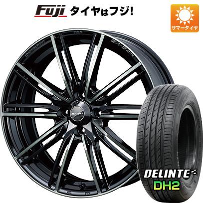 6.5J タイヤはフジ WEDS 送料無料 デリンテ サマータイヤ ホイール4本セット 6.50-16 ウェッズスポーツ DELINTE DH2(限定) 195/55R16 SA-54R 16インチ