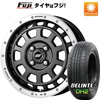 7/25はエントリーでポイント15倍 タイヤはフジ 送料無料 WORK ワーク クラッグ ティーグラビック 5J 5.00-15 DELINTE デリンテ DH2(限定) 165/55R15 15インチ サマータイヤ ホイール4本セット