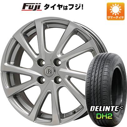 タイヤはフジ 送料無料 BRANDLE ブランドル E04 5.5J 5.50-14 DELINTE デリンテ DH2(限定) 185/65R14 14インチ サマータイヤ ホイール4本セット