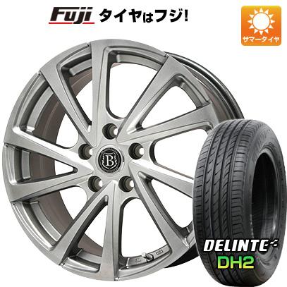タイヤはフジ 送料無料 BRANDLE ブランドル E04 7.5J 7.50-18 DELINTE デリンテ DH2(限定) 225/55R18 18インチ サマータイヤ ホイール4本セット