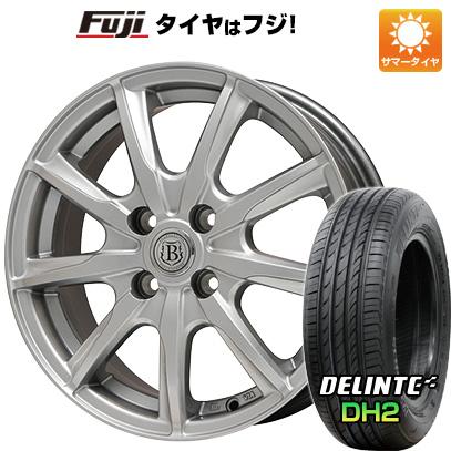 タイヤはフジ 送料無料 BRANDLE ブランドル E05 5.5J 5.50-15 DELINTE デリンテ DH2(限定) 195/65R15 15インチ サマータイヤ ホイール4本セット