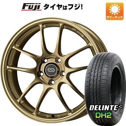 タイヤはフジ 送料無料 ENKEI エンケイ PF01 7J 7.00-18 DELINTE デリンテ DH2(限定) 225/45R18 18インチ サマータイヤ ホイール4本セット