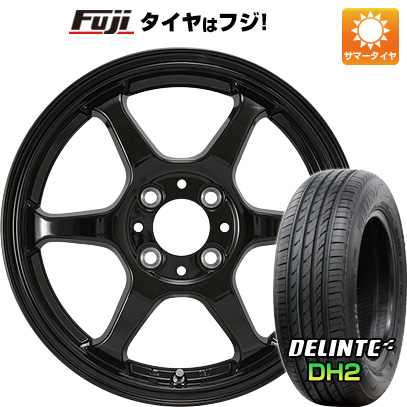 タイヤはフジ 送料無料 カジュアルセット タイプL 2. 5J 5.00-15 DELINTE デリンテ DH2(限定) 165/55R15 15インチ サマータイヤ ホイール4本セット