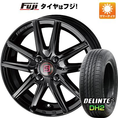 7/25はエントリーでポイント15倍 タイヤはフジ 送料無料 KYOHO 共豊 キョウホウ ザインSS ブラックエディション 4.5J 4.50-15 DELINTE デリンテ DH2(限定) 165/55R15 15インチ サマータイヤ ホイール4本セット