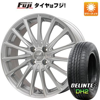 7/25はエントリーでポイント15倍 タイヤはフジ 送料無料 LEHRMEISTER LM-S FS15 (シルバーポリッシュ) 4.5J 4.50-15 DELINTE デリンテ DH2(限定) 165/50R15 15インチ サマータイヤ ホイール4本セット