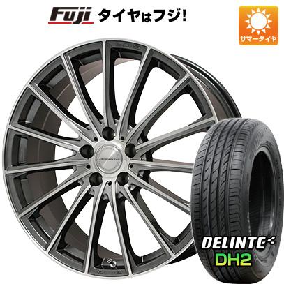 タイヤはフジ 送料無料 LEHRMEISTER LM-S FS15 (ガンメタポリッシュ) 7.5J 7.50-18 DELINTE デリンテ DH2(限定) 235/50R18 18インチ サマータイヤ ホイール4本セット