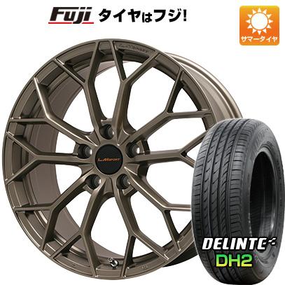 8月 2・5・8日はポイント倍増! タイヤはフジ 送料無料 LEHRMEISTER レアマイスター LMスポーツLM-55M (マットブロンズ) 7.5J 7.50-18 DELINTE デリンテ DH2(限定) 225/45R18 18インチ サマータイヤ ホイール4本セット
