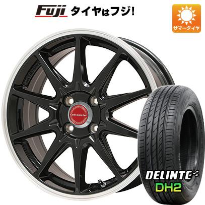 タイヤはフジ 送料無料 LEHRMEISTER レアマイスター LMスポーツRS10(グロスブラックリムポリッシュ) 6.5J 6.50-16 DELINTE デリンテ DH2(限定) 195/55R16 16インチ サマータイヤ ホイール4本セット