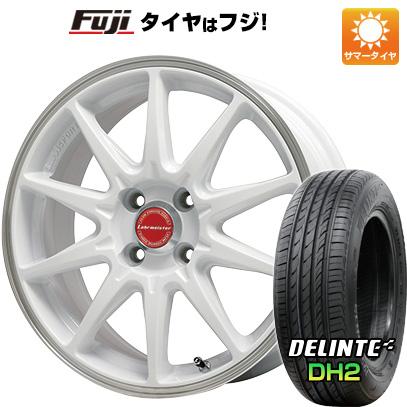 タイヤはフジ 送料無料 LEHRMEISTER レアマイスター LMスポーツRS10(ホワイト/リムポリッシュ) 6J 6.00-15 DELINTE デリンテ DH2(限定) 195/65R15 15インチ サマータイヤ ホイール4本セット