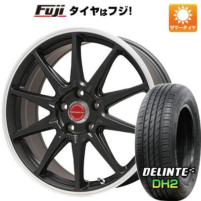 タイヤはフジ 送料無料 LEHRMEISTER レアマイスター LMスポーツRS10(マットブラックリムポリッシュ) 7J 7.00-16 DELINTE デリンテ DH2(限定) 205/55R16 16インチ サマータイヤ ホイール4本セット