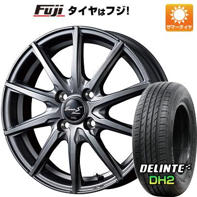 タイヤはフジ 送料無料 MID ユーロストリーム JL10 5.5J 5.50-14 DELINTE デリンテ DH2(限定) 185/65R14 14インチ サマータイヤ ホイール4本セット