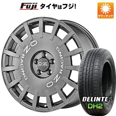 タイヤはフジ 送料無料 OZ ラリーレーシング 7.5J 7.50-18 DELINTE デリンテ DH2(限定) 225/55R18 18インチ サマータイヤ ホイール4本セット