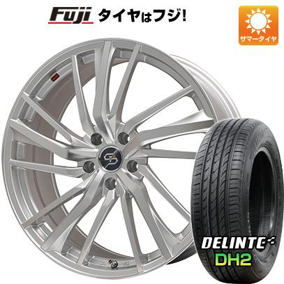 タイヤはフジ 送料無料 PREMIX プレミックス ドルチェ3x5(ハイパーシルバーポリッシュ) 7.5J 7.50-18 DELINTE デリンテ DH2(限定) 235/50R18 18インチ サマータイヤ ホイール4本セット