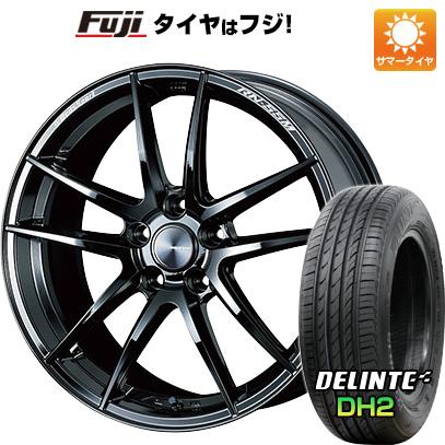 タイヤはフジ 送料無料 WEDS ウェッズスポーツ RN-55M 7.5J 7.50-18 DELINTE デリンテ DH2(限定) 225/45R18 18インチ サマータイヤ ホイール4本セット