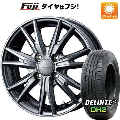 タイヤはフジ 送料無料 WEDS ウェッズ ヴェルバ ケヴィン 5.5J 5.50-15 DELINTE デリンテ DH2(限定) 185/60R15 15インチ サマータイヤ ホイール4本セット