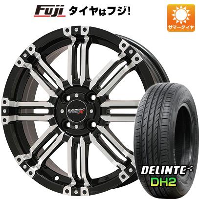 タイヤはフジ 送料無料 BIGWAY ビッグウエイ B-MUD X(ブラックポリッシュ) 4.5J 4.50-15 DELINTE デリンテ DH2(限定) 165/55R15 15インチ サマータイヤ ホイール4本セット