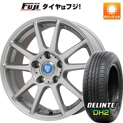 タイヤはフジ 送料無料 BRANDLE ブランドル 302 6J 6.00-15 DELINTE デリンテ DH2(限定) 195/65R15 15インチ サマータイヤ ホイール4本セット