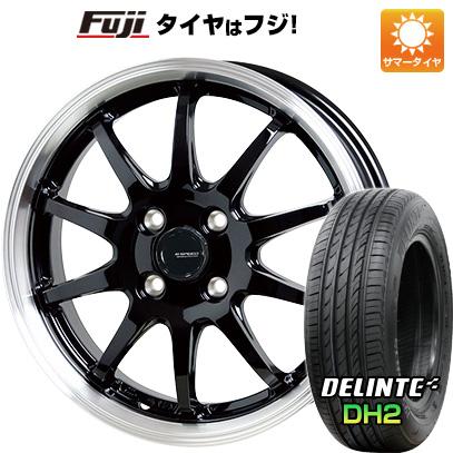 タイヤはフジ 送料無料 HOT STUFF ホットスタッフ ジースピード P-04 4.5J 4.50-14 DELINTE デリンテ DH2(限定) 155/65R14 14インチ サマータイヤ ホイール4本セット