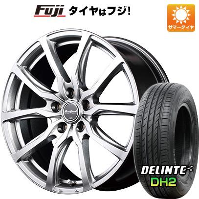 タイヤはフジ 送料無料 MID ユーロスピード G52 8J 8.00-18 DELINTE デリンテ DH2(限定) 225/45R18 18インチ サマータイヤ ホイール4本セット