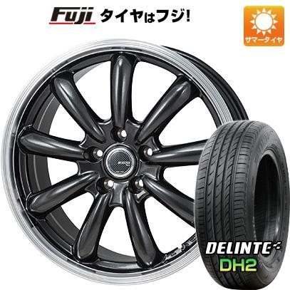 タイヤはフジ 送料無料 MONZA モンツァ JPスタイル バーニー 7J 7.00-17 DELINTE デリンテ DH2(限定) 215/50R17 17インチ サマータイヤ ホイール4本セット