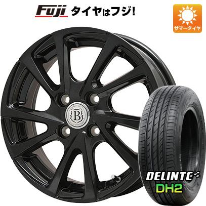 【送料無料】 165/55R15 15インチ BRANDLE ブランドル E04B 4.5J 4.50-15 DELINTE デリンテ DH2(限定) サマータイヤ ホイール4本セット