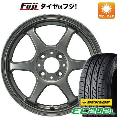 タイヤはフジ 送料無料 カジュアルセット タイプL 2. 4.5J 4.50-15 DUNLOP EC202L 165/55R15 15インチ サマータイヤ ホイール4本セット