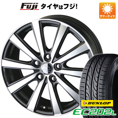 タイヤはフジ 送料無料 KYOHO 共豊 スマック VI-R 6J 6.00-15 DUNLOP EC202L 195/65R15 15インチ サマータイヤ ホイール4本セット