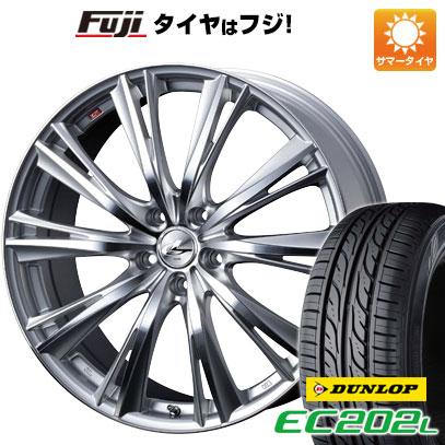 タイヤはフジ 送料無料 WEDS ウェッズ レオニス WX 6J 6.00-15 DUNLOP EC202L 195/65R15 15インチ サマータイヤ ホイール4本セット