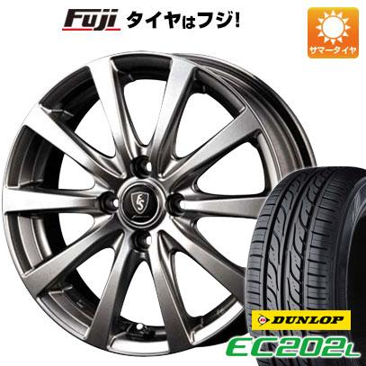 タイヤはフジ 送料無料 MID ユーロスピード G10 4.5J 4.50-14 DUNLOP EC202L 155/65R14 14インチ サマータイヤ ホイール4本セット