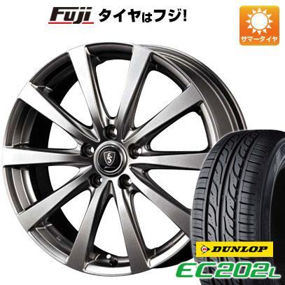 タイヤはフジ 送料無料 シエンタ 5穴/100 MID ユーロスピード G10 5.5J 5.50-15 DUNLOP EC202L 185/60R15 15インチ サマータイヤ ホイール4本セット
