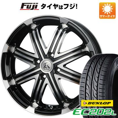タイヤはフジ 送料無料 ソリオ(MA26S) TECHNOPIA テクノピア カシーナ V-1 4.5J 4.50-14 DUNLOP EC202L 165/70R14 14インチ サマータイヤ ホイール4本セット