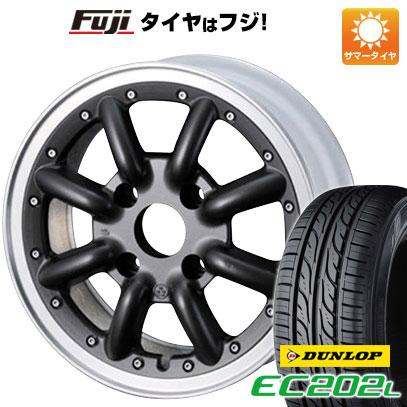 タイヤはフジ 送料無料 WATANABE ワタナベ New RS8 6J 6.00-14 DUNLOP EC202L 185/65R14 14インチ サマータイヤ ホイール4本セット