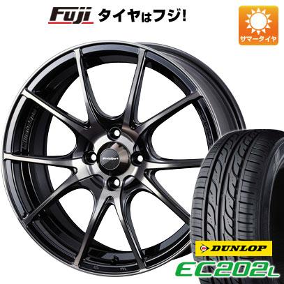タイヤはフジ 送料無料 WEDS ウェッズスポーツ SA-10R 6J 6.00-15 DUNLOP EC202L 175/65R15 15インチ サマータイヤ ホイール4本セット