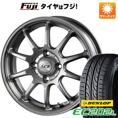 タイヤはフジ 送料無料 ソリオ(MA26S) INTER MILANO インターミラノ LCZ 010 4.5J 4.50-14 DUNLOP EC202L 165/70R14 14インチ サマータイヤ ホイール4本セット