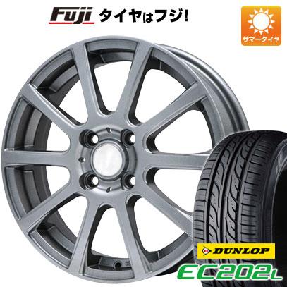 タイヤはフジ 送料無料 BRANDLE ブランドル 565T 4.5J 4.50-14 DUNLOP EC202L 165/55R14 14インチ サマータイヤ ホイール4本セット