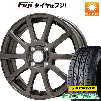 タイヤはフジ 送料無料 BRANDLE ブランドル 565Z 4.5J 4.50-14 DUNLOP EC202L 165/55R14 14インチ サマータイヤ ホイール4本セット